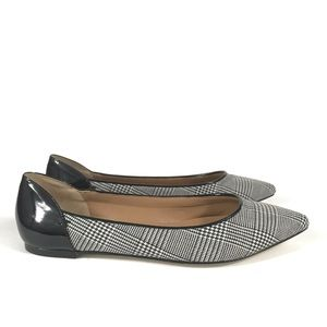 Talbots Shoes - Talbots White Black Houndstooth Pointed Toe Flats